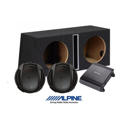 "Alpine Type-E baspaket 2x12"" och MRV-M250"