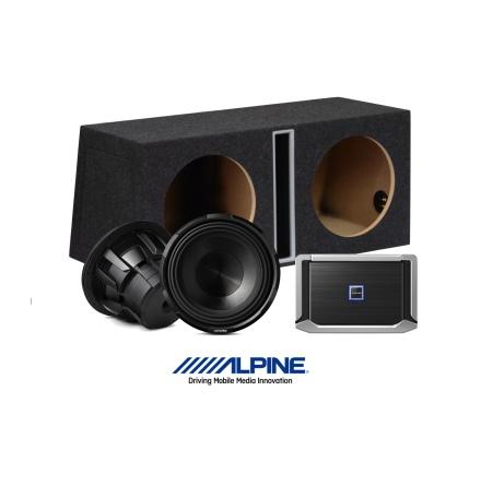 """Alpine X-series baspaket 2x12"""" och 2st X-A90M"""