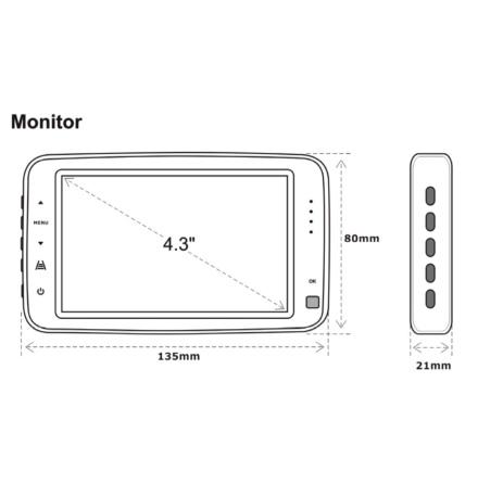 "2.4GHz 4.3"" Wireless Monitor"