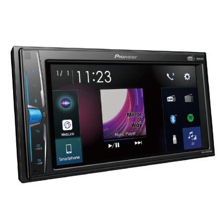 2DIN Mediaspelare med 6.2 skärm och DAB