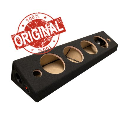 """Portad SVART Låda 4 x6,5"""" middar och diskant"""