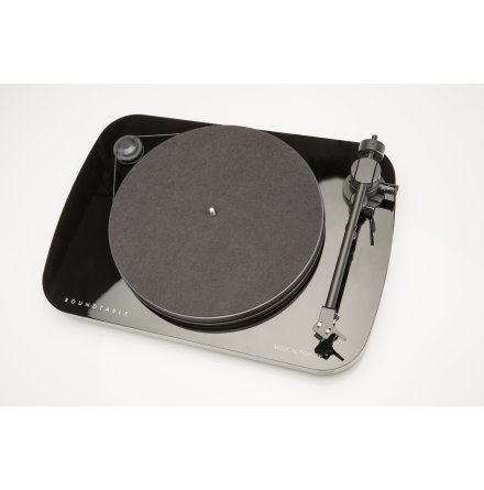 Black- Vinylspelare komplett med lock