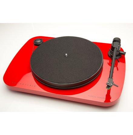 Red- Vinylspelare komplett med lock