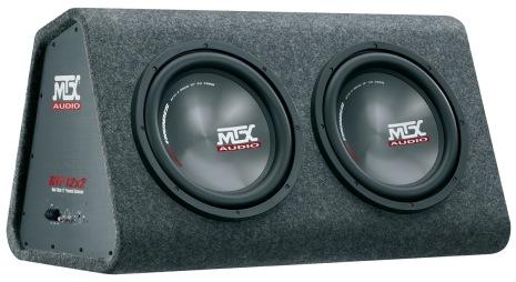 """MTX - MTX Roadthunder 2x12"""" Active subwooferbox"""