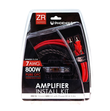 10mm2 OFC kit with power RCA 5,2m