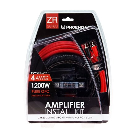 20mm2 OFC kit with power RCA 5,2m